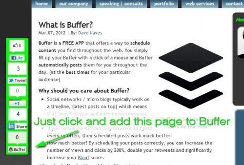 Buffer on Sharebar