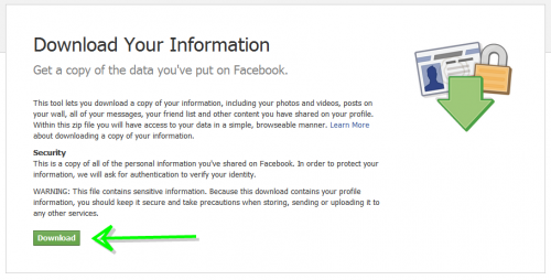 Facebook Download Information image